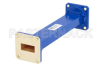 WR-90 Commercial Grade Straight Waveguide Section 6 Inch Length with UG-39/U Flange Operating from 8.2 GHz to 12.4 GHz -- PE-W90S001-6 -Image