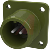 connector,box receptacle,class a,size 12s,2 #16 solder pin contact,olive drab -- 70009991 - Image
