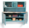 Workstation With Upper Compartment and Stainless Steel Top -- 63-WB-301-SSTOP-MOD
