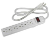 6 Outlet Surge Protector 15A, 90J 3ft -- 2150-SF-01 -- View Larger Image