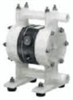 Air-operated double-diaphragm drum pump; Kynar PVDF with TPO diaphragm, 12 GPM -- GO-74024-06