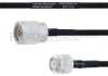 N Male to TNC Male MIL-DTL-17 Cable M17/84-RG223 Coax in 100 cm -- FMHR0044-100CM -Image