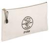 KLEIN TOOLS 12-1/2 In. L x 7 In. H 0.12 lb Wt Canvas Zipper -- Model# 5139