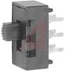 Switch, Slide, Miniature, DPDT, 4A@125VAC; 2A@250VAC; 0.5A@125VDC -- 70128570 - Image