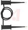 Test Clip Patch Cord; Stainless Steel; Glass Filled Nylon; Black; 24 in.; PVC -- 70198279