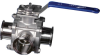 Sanitary 3-Way Ball Valve -- EA-3308-SN-L/T