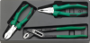 6704 - Set with 3 pliers, chrome plated -- 96650006