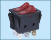 Double-poles Rocker Switch -- IRS-2101-3C ON-OFF - Image