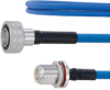 Plenum Low PIM Snap-On 4.3-10 Male to N Female Bulkhead Cable SPP-250-LLPL Coax in 200 cm Using Times Microwave Parts and RoHS -- FMCA1896-200CM -- View Larger Image