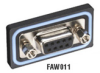 Water-Resistant Connector System, D-Style Panel-Mount Connector, Female -- FAW012