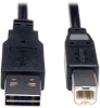 Universal Reversible USB 2.0 Cable (Reversible A to B M/M), 6-ft. -- UR022-006 - Image
