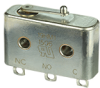HM Series Hermetically Sealed Basic Switch, Single Pole Double Throw Circuitry, 0.5 A at 28 Vdc, Integral Lever Actuator, Solder Termination -- 19HM1 -Image
