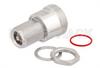 Bulkhead Mount 7/16 DIN Female to 4.1/9.5 Mini DIN Female Adapter, IP67 Mated -- PE91210