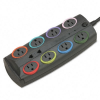 SmartSockets Std Color-Coded Adapter Surge Protctr, 8 Outlet -- 62690