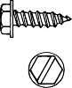 SLOTTED HEX HEAD SHEET METAL SCREWS, #8 X 1 1/2 IN -- IBI269597