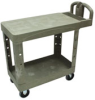 UTILITY 2 FLAT-SHELF CART 500 LB STRUCT FOAM BLA -- RCP 4525 BLA