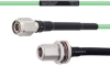 Temperature Conditioned Low Loss TNC Male to N Female Bulkhead Cable LL142 Coax in 12 Inch -- FMHR0163-12 -Image
