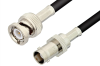 BNC Male to BNC Female Cable 24 Inch Length Using RG223 Coax -- PE3606-24 -Image