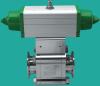 High Vacuum Ball Valve -- Pneumatic, SST Body, ISO-QF or LF Ports