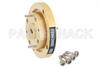 WR-19 Waveguide Bulkhead Adapter UG-383/U-Mod Round Cover Flange, 40 GHz to 60 GHz -- PEWAD5003 -Image