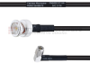 BNC Male to RA SMA Male MIL-DTL-17 Cable M17/28-RG58 Coax in 24 Inch -- FMHR0117-24 -Image