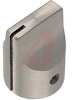 Knob;Dia 0.5in;Shaft Sz 0.25in;Panel;Top & Side Saw Cut;Clear Gloss;Aluminum -- 70126001