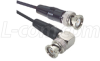 RG174 Coaxial Cable, BNC Male / 90º Male, 1.5 ft -- CC174-1.5HR -Image