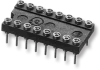 Low-Profile Collet DIP Socket with Solder Tail Pins – Series 513 - Image