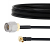 SMA Male to RA MMCX Plug Cable FM-SR086TBJ Coax in 12 Inch -- FMCA2145-12 -Image