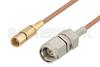 SMA Male to SSMC Plug Cable 6 Inch Length Using RG178 Coax -- PE3C4391-6 -Image