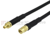 MMCX Plug to MMCX Jack Cable RG-174 Coax in 120 Inch -- FMC0924174-120 -Image
