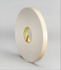 3M 4496 White Foam Mounting Tape - 1/2 in Width x 36 yd Length - 1/16 in Thick - 24308 -- 021200-24308 -- View Larger Image