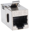 Cat6 Straight Through Modular Shielded In-line Snap-in Coupler (RJ45 F/F), TAA -- N235-001-SH - Image