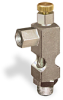 """(Formerly B1628-3X02), Angle Small Sight Feed Valve, 1/8"""" Female NPT Inlet, 1/8"""" Male NPT Outlet, Handwheel -- B1628-112B1HW -Image"""