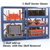 JARKE E-Z Glide Shelf Racks -- 5192400
