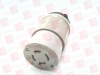 COOPER 6404 ( TWIST LOCK FEMALE PLUG, 125VAC, 20AMP, 3PHASE, 3POLE, 4WATT ) -- View Larger Image