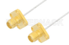 SMA Female 4 Hole Flange to SMA Female 4 Hole Flange Cable 48 Inch Length Using PE-SR047FL Coax -- PE35112-48 -Image
