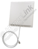 2.4 GHz 14 dBi Flat Panel Range Extender Antenna - 4ft BNC Male Connector -- RE14P-BM