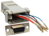 DB9 Female to RJ45 Modular Adapter -- 31D1-B2 -- View Larger Image