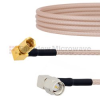 RA SMA Male to RA SSMC Plug Cable RG316 Coax in 6 Inch -- FMCA1468-6 -- View Larger Image