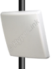 5.8 GHz 19 dBi Flat Patch Antenna - Integral N-Female Connector -- HG5819P