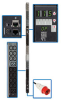3-Phase Monitored PDU, 11.5kW, 48 200/220/230/240V outlets (42 C13, 6 C19), per-phase current metering, IEC309 20A Red (3P+N+E) 360/380/400/415V input, 0U vertical mount, TAA Compliant -- PDU3XVN6G20