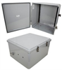 18x16x10 Polycarbonate Weatherproof NEMA 4X Enclosure, DIN Rail Mount Dark Gray -- NBPC181610-000DR