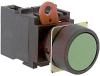 Switch,Pushbutton,NON-Illuminated,Momentary CONTACT,ROUND FLUSH, GREEN, 1NO -- 70179974