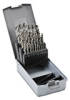 Jobber Drill Bit Set: heavy duty HSS, 1.0 to 13.0mm diameter, 25-pc -- 214215RO