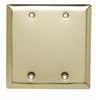 Blank Plates -- Box Mounted, Two Gang, Polished Brass -- SB23PB - Image