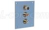 Universal Sub-Panel, Single S-Video and Dual RCA Couplers -- USP1SVID2RCAB