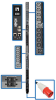 25.2kW 3-Phase Switched PDU, LX Platform Interface, 240V Outlets (24 C13/6 C19), Touchscreen LCD, IEC 309 60A Red 415V, 0U, TAA -- PDU3XEVSR6G60B