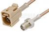 SMA Female to Beige FAKRA Jack Cable 60 Inch Length Using RG316 Coax -- PE39351I-60 -Image