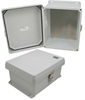 10x8x5 Inch UL® Listed Weatherproof NEMA 4X Enclosure with Blank Aluminum Mounting Plate -- NB100805-KIT -Image